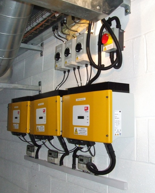 Three phase inverter installation