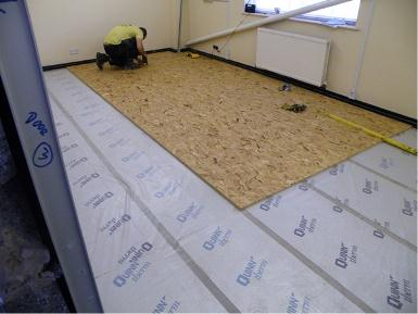 Floor and wall insulation.