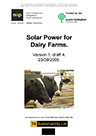 Dairy solar hot water feasibility study