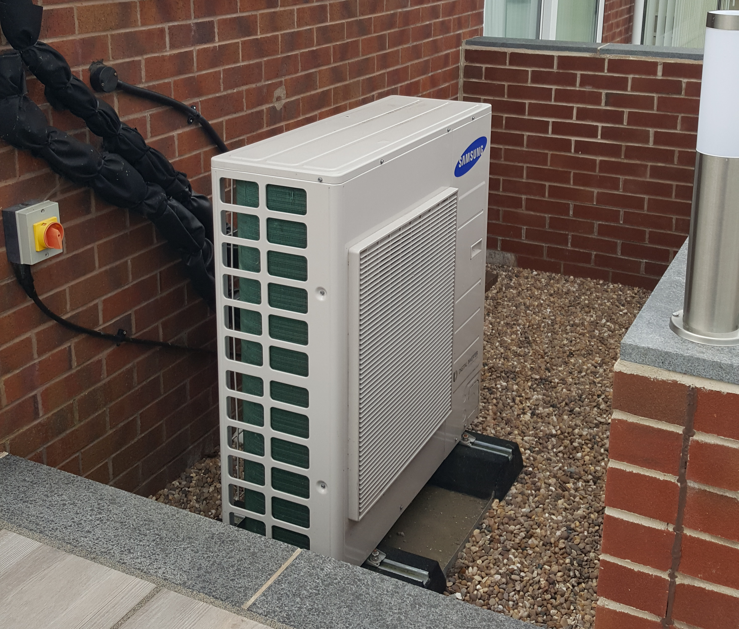 Air source heat pump and solar thermal