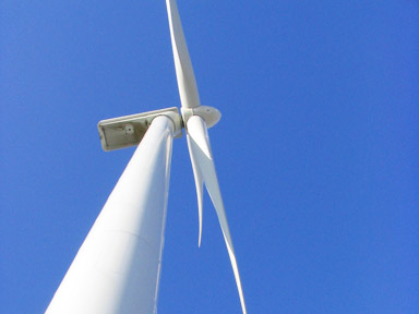 Large commercial wind turbine