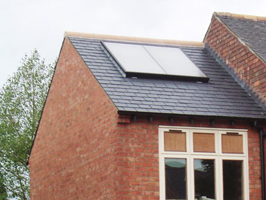 Solar hot water system installed by T4