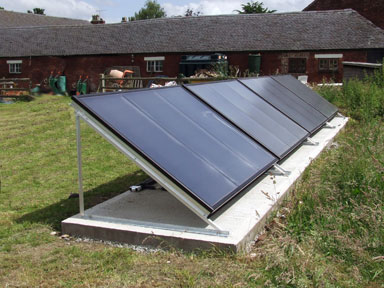Solar hot water collectors installed by T4